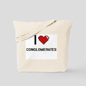 I love Conglomerates Digitial Design Tote Bag