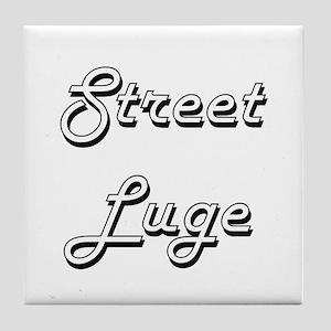 Street Luge Classic Retro Design Tile Coaster