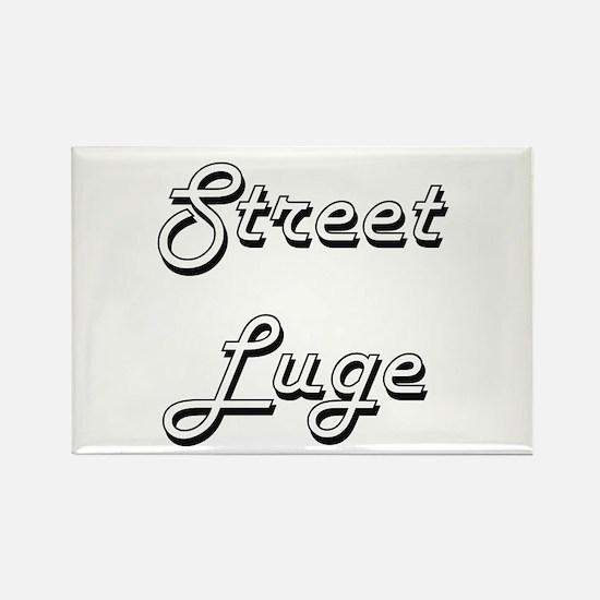 Street Luge Classic Retro Design Magnets