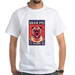Obey the Shar Pei! 2-sided White T-Shirt