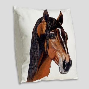arabian iii Burlap Throw Pillow