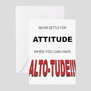 Alto-tude!!! Greeting Cards