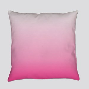ombre hot pink Everyday Pillow