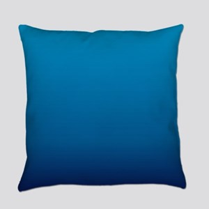 trendy ombre blue Everyday Pillow