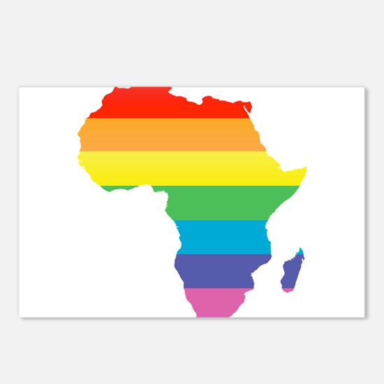 african rainbow Postcards (Package of 8)
