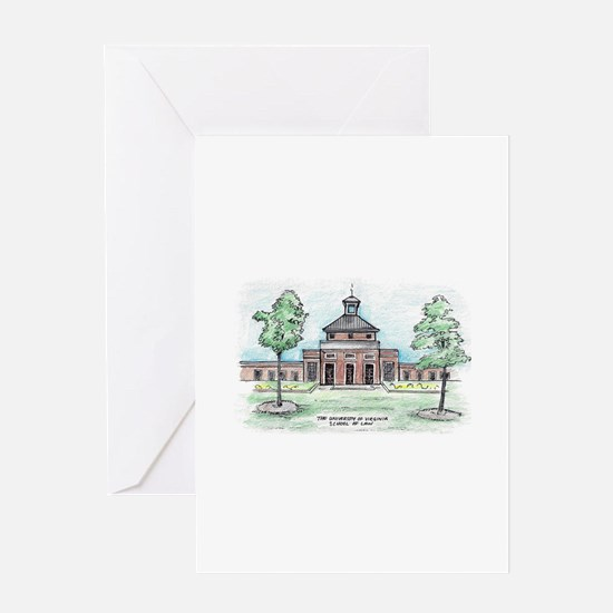 UVA Law Caplin Pavilion from Courty Greeting Cards