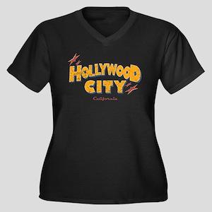 Hollywood City, California. Women's Plus Size V-N