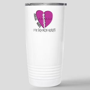 Cardiac Nurse Art Travel Mug
