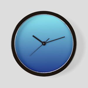aqua blue ombre Wall Clock