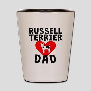 Russell Terrier Dad Shot Glass