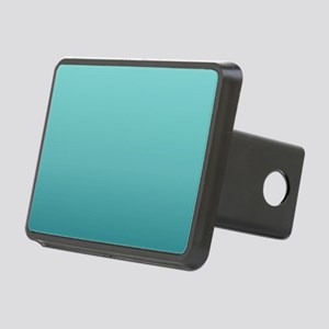watercolor teal ombre Rectangular Hitch Cover