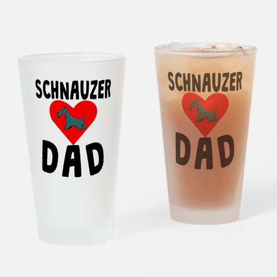 Schnauzer Dad Drinking Glass