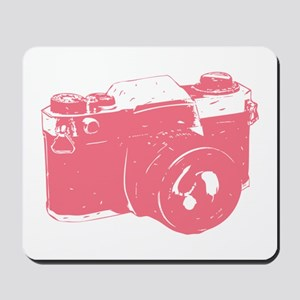 Pink Camera Mousepad