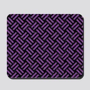 WOVEN2 BLACK MARBLE & PURPLE DENIM (R) Mousepad
