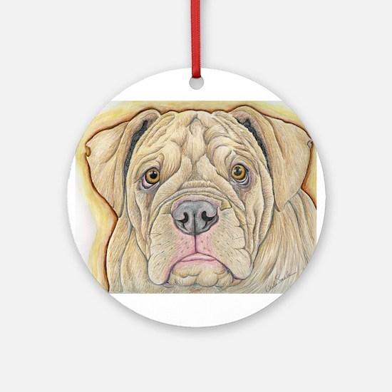 Olde English Bulldogge Ornament (Round)