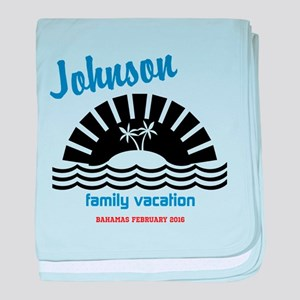 Tropical Family Vacation baby blanket