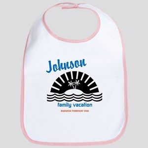 Tropical Family Vacation Bib