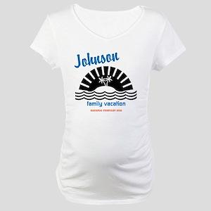 Tropical Family Vacation Maternity T-Shirt