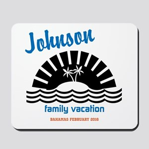 Tropical Family Vacation Mousepad