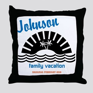 Tropical Family Vacation Throw Pillow