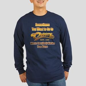 Cheers Long Sleeve Dark T-Shirt