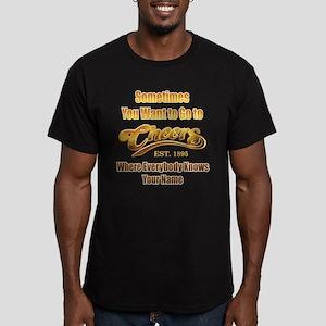 Cheers Men's Fitted T-Shirt (dark)
