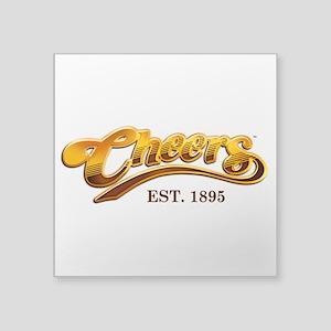 "Cheers Est. 1895 Square Sticker 3"" x 3"""