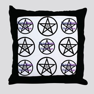 Harm None Blue Many Throw Pillow