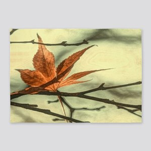 elegant autumn fall leaves 5'x7'Area Rug