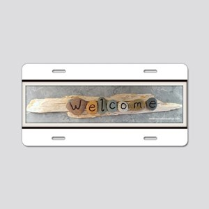 Welcome on Driftwood Aluminum License Plate