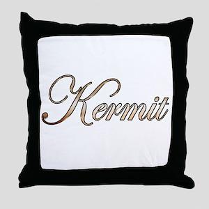 Gold Kermit Throw Pillow