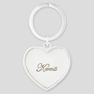 Gold Kermit Heart Keychain