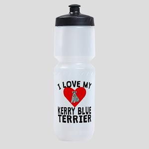 I Love My Kerry Blue Terrier Sports Bottle