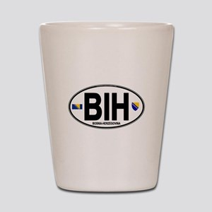 bih-oval Shot Glass