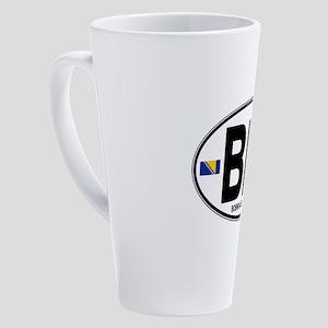 bih-oval 17 oz Latte Mug