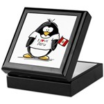 Peru Penguin Keepsake Box