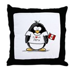 Peru Penguin Throw Pillow