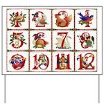 12 Days Of Christmas Yard Sign