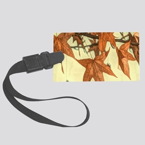 zen autumn fall leaves Large Luggage Tag