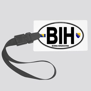 bih-oval Large Luggage Tag