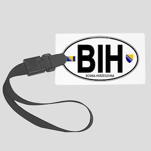 bih-oval Large Luggage Tag