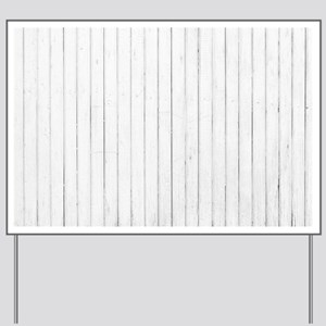 shabby chic white pin stripes Yard Sign