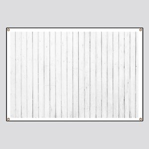 shabby chic white pin stripes Banner