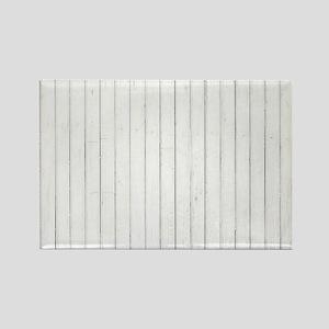 shabby chic white pin stripes Magnets