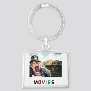 MOVIES STARRING TEETHER. Landscape Keychain