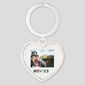MOVIES STARRING TEETHER. Heart Keychain
