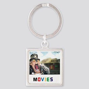 MOVIES STARRING TEETHER. Square Keychain