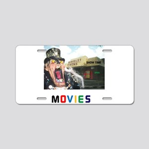 MOVIES STARRING TEETHER. Aluminum License Plate