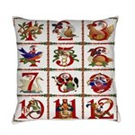 12 Days Of Christmas Everyday Pillow