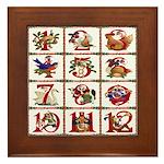 12 Days Of Christmas Framed Tile
